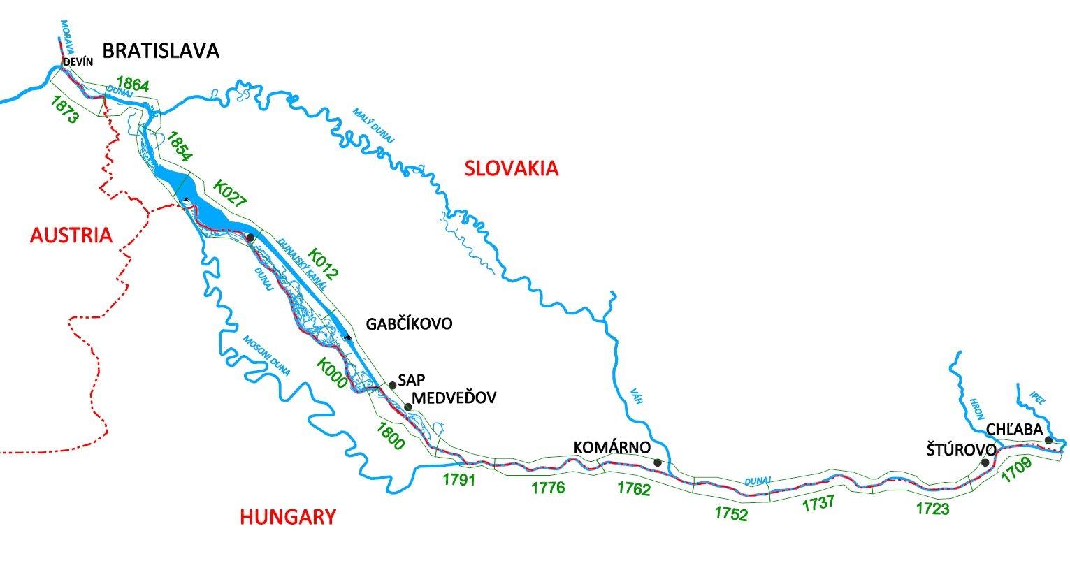 mapa povodia Dunaja