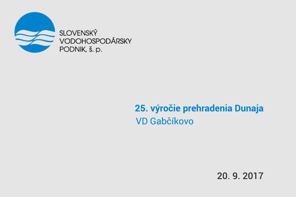 pozvánka na 25. výročie prehradenia Dunaja